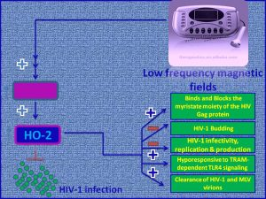 Biomagnetic therapy for HIV1 infection